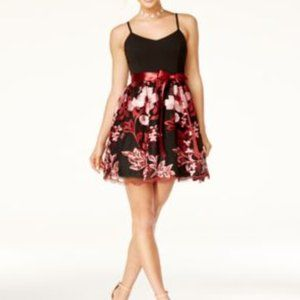 Embroidered Mini Party Dress